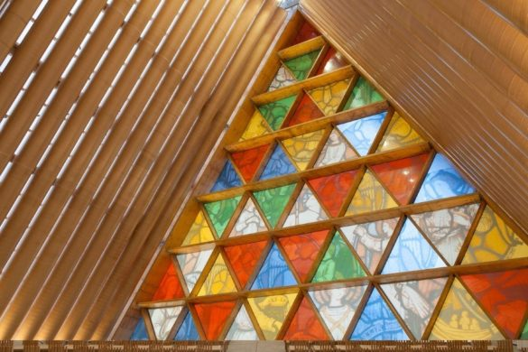 Cardboard Cathedral | Christchurch | New Zealand | Glass Panels | Dip-Tech