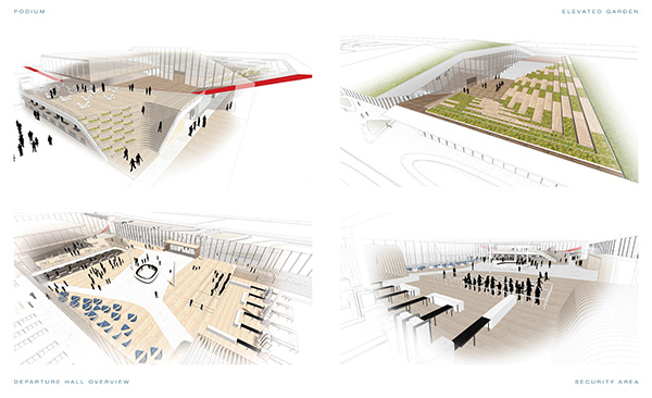 UNStudio   Kutaisi International Airport   IGS Magazine   Rendering   Expansion   Departure and arrival hall