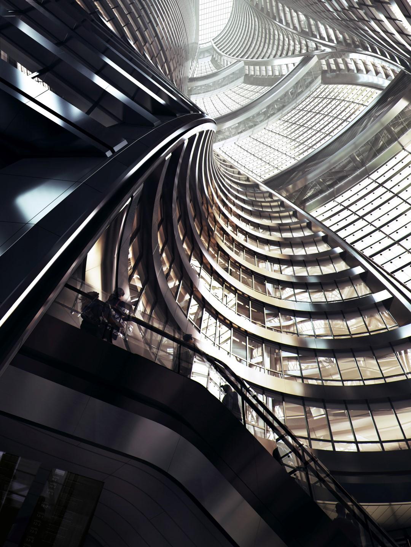 Leeza Soho   Atrium   Render   Zaha Hadid Architects   IGS Magazine   Glass and Facade