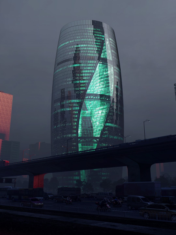 Leeza Soho   Night   Render   Zaha Hadid Architects   IGS Magazine   Glass and Facade