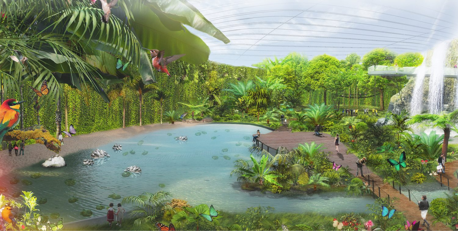 Coldefy & Associates-Design Worlds largest dome-tropical greenhouse- IGS magazine- 2