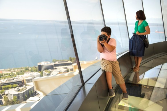 The Loupe - Space Needle guests experience the world's first revolving glass floor located 500 feet in the air (2)