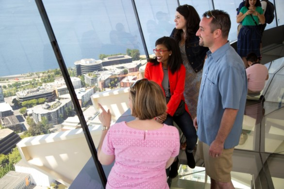 The Loupe - Space Needle guests experience the world's first revolving glass floor located 500 feet in the air (3)