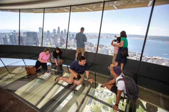 The Loupe - the world's first revolving glass floor. Courtesy of John Lok and Space Needle LLC