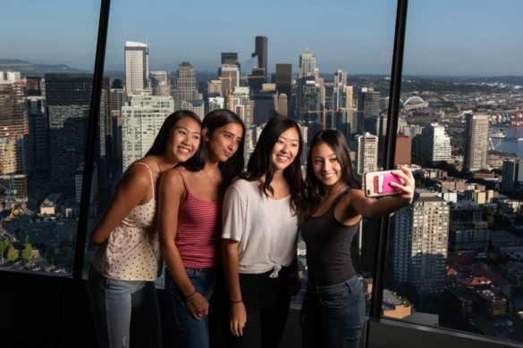 The ultimate selfie on The Loupe. Courtesy of Space Needle and Rod Mar
