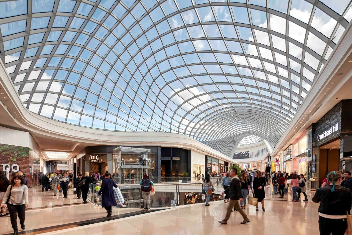 Dramatic Gridshell Glass Roof Soars Above Chadstone Shopping Centre