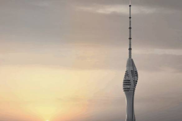 Istanbul's Futuristic Supertall TV Tower Nears Completion 3