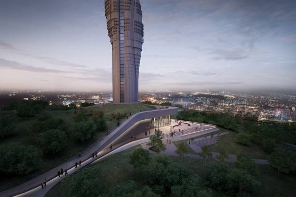 Istanbul's Futuristic Supertall TV Tower Nears Completion 4