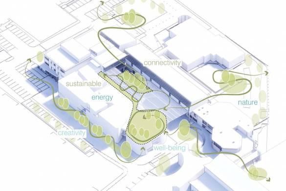 UNStudio wins competition for Business School for the Creative Industries at UCA Epsom, UK