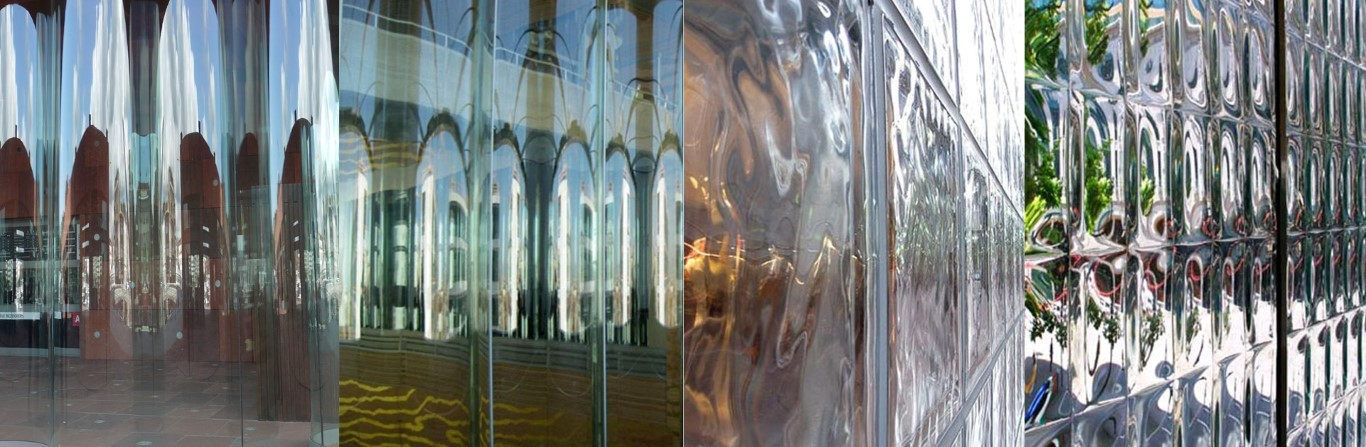 Fig: Collage of detailed views of various glass projects