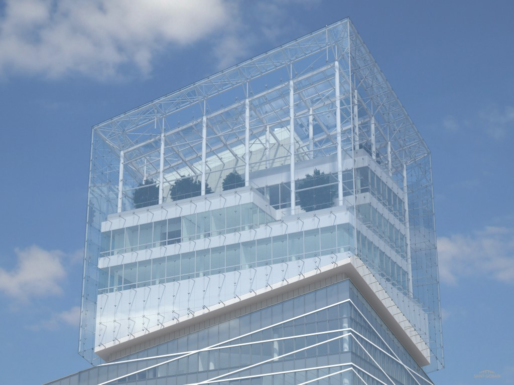 GlassPro rendering of head of the new Saint-Gobain Tower