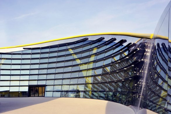 Enzo Ferrari Museum   Modena   Front of Facade   Curved Glass   Engineering Design   Intelligent Glass Solutions