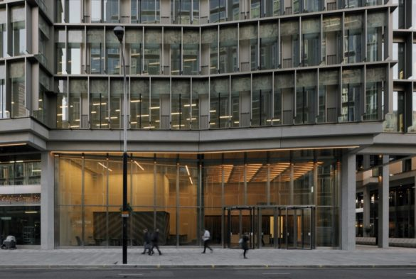 The Zig Zag Building   London   David Grandorge Photo   Front Entrance   Steel and Glass Facade   Intelligent Glass Solutions