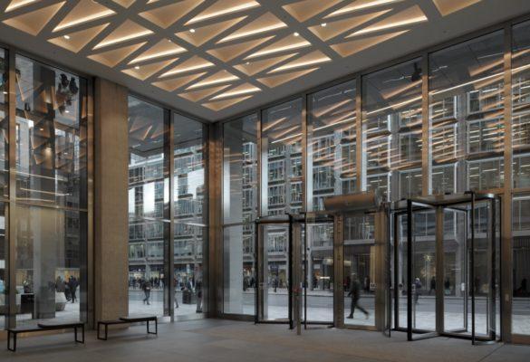 The Zig Zag Building   London   David Grandorge Photo   Lobby and Front entrance   Glass Panels