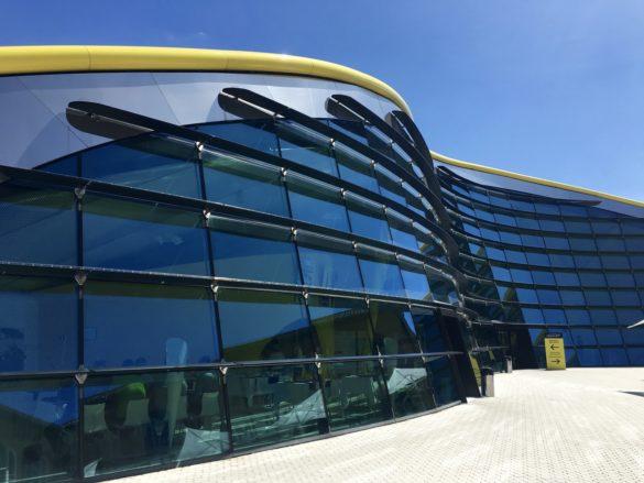 Enzo Ferrari Museum   Modena   futuristic exhibition gallery   Curved Glass   Facades   Intelligent Glass Solutions