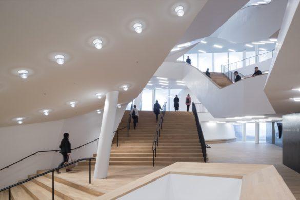 elbphilharmonie | Glass Industry | Hamburg | ipachrome design | AGC Interpane | Interior Staircase | IGS Mag | designed by Herzog & de Meuron
