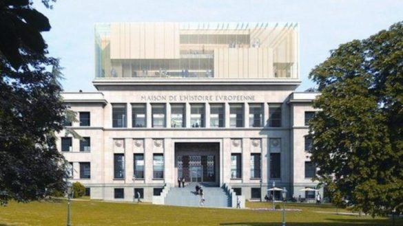 Maison de l'Histoire Européenne   Brussells   Competition Rendering   Front of Building   IGS Mag