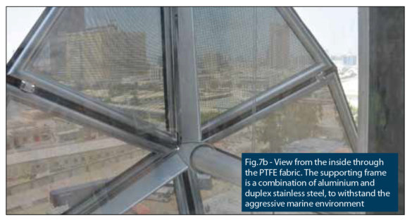 Al Bahar Towers | Abu Dhabi | View from the inside through the PTFE fabric