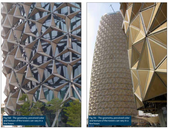 Al Bahar Towers | Abu Dhabi | Changing geometry, color and texture | Facade engineering