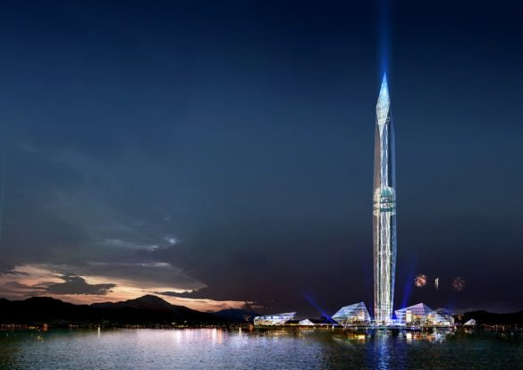 World's First Invisible Tower   Infinity Towers   GDS Architects   Korea   Invisible tall building   Mock-up