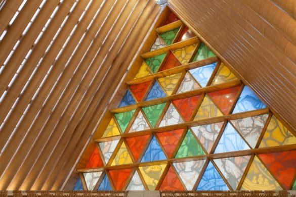 Cardboard Cathedral   Christchurch   New Zealand   Glass Panels   Dip-Tech
