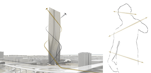 Wasl Tower | Dubai | contrapposto movement | Press Release