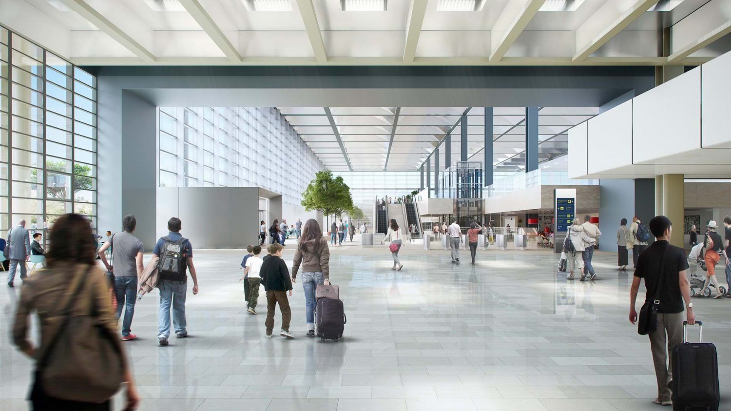 Foster + Partners | Airport | Marseille | Rendering | interior | lobby | Intelligent Glass Solutions