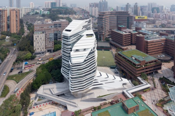 Jockey Club Innovation Tower | Iwan Baan | city view from above