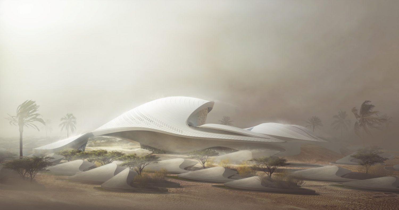 Bee'ah HQ_exterior | Zaha Hadid Architects | Rendering | IGS Magazine