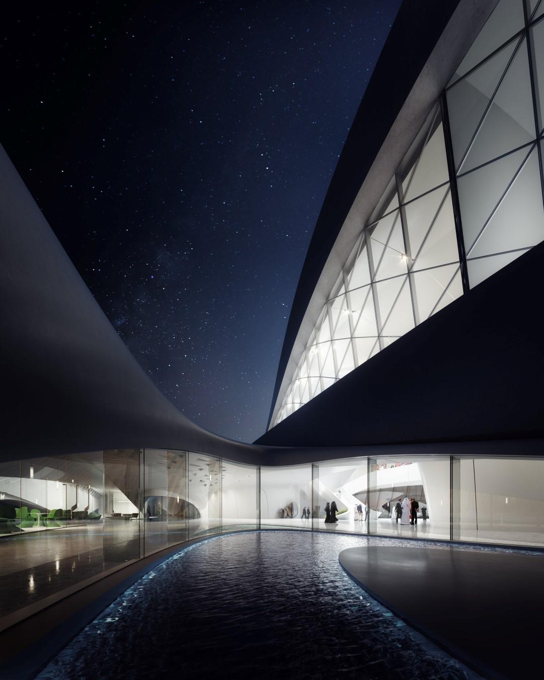 Bee'ah HQ_courtyard | Zaha Hadid Architects | Project