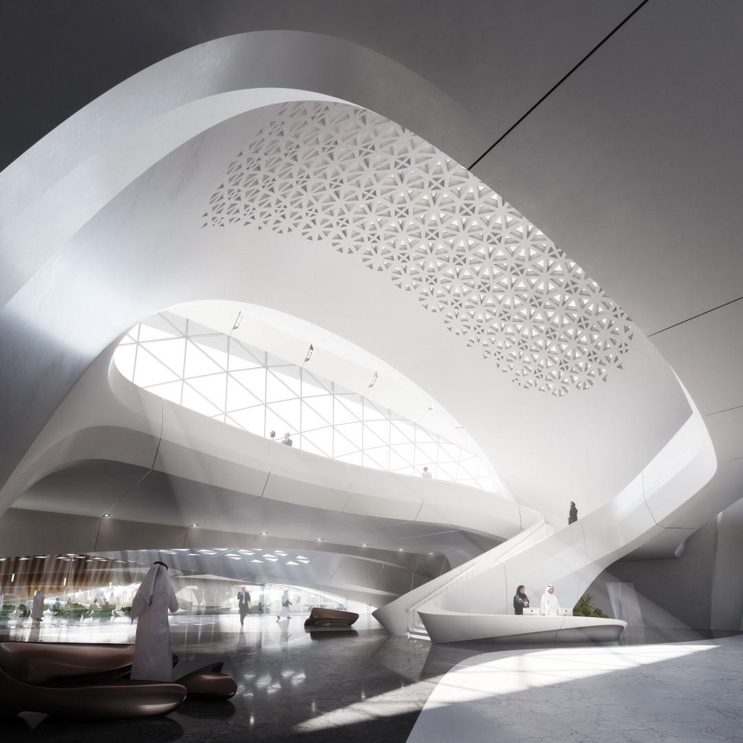 Bee'ah HQ_interior | Zaha Hadid | IGS Mag