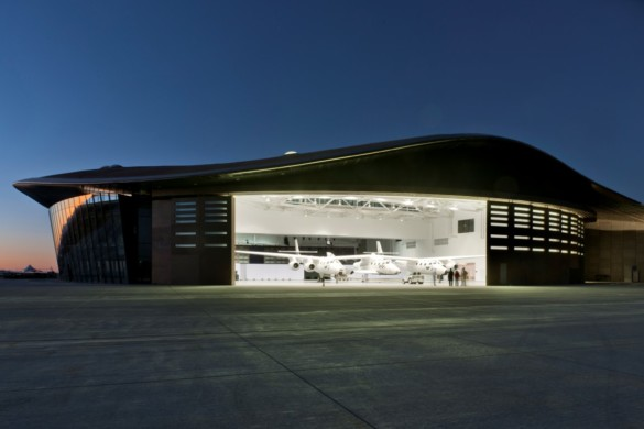 Spaceport America | New Mexico | Virgin Galactic | IGS Magazine | Hanger at night