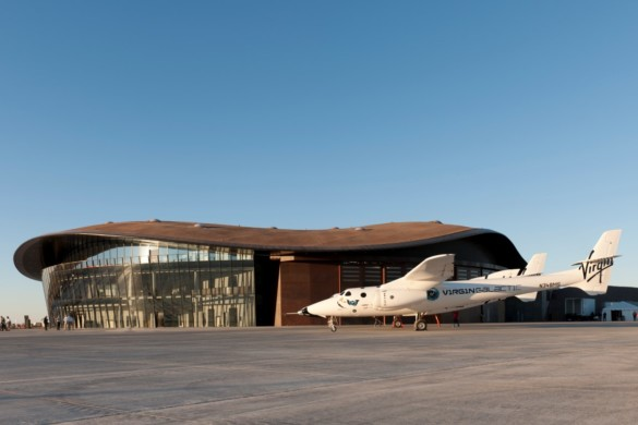 Spaceport America | New Mexico | Virgin Galactic | IGS Magazine | Plane outside