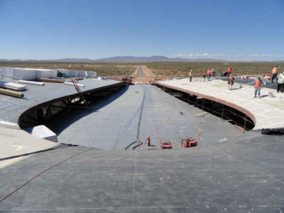 Spaceport America | New Mexico | Virgin Galactic | IGS Magazine | construction | Roof detail