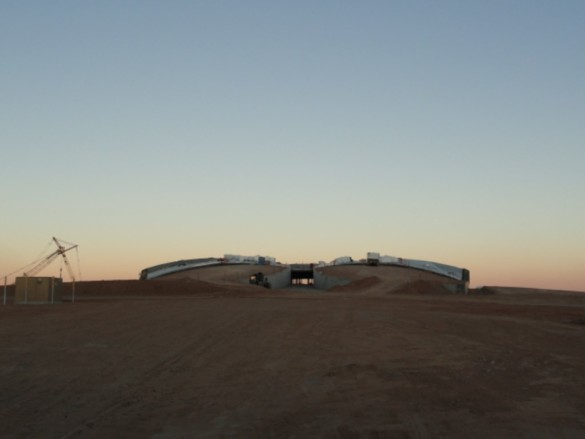 Spaceport America | New Mexico | Virgin Galactic | IGS Magazine | construction | Dusk