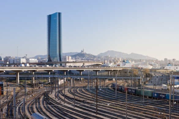 CMA CGM Tower | France | Photography | IGS Mag | Architectural photography | Train tracks