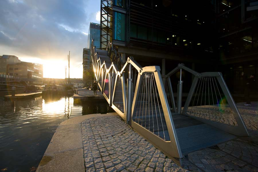Rolling Bridge, London. Photograph by Steve Speller