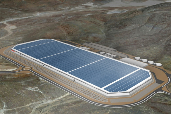 Tesla Gigafactory. Image Courtesy of Tesla.