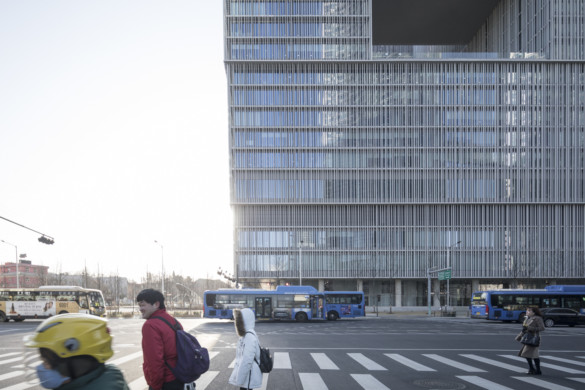 Amorepacific Headquarters in South Korea set to alter the urban fabric of the Yongsan district.