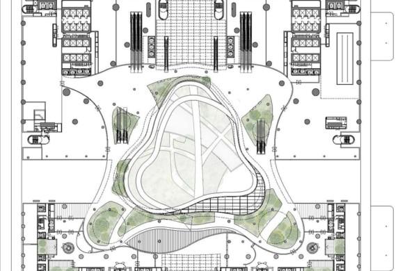 Green Heart – Marina One Singapore - Ingenhoven Architects - Singapore -drawing -19