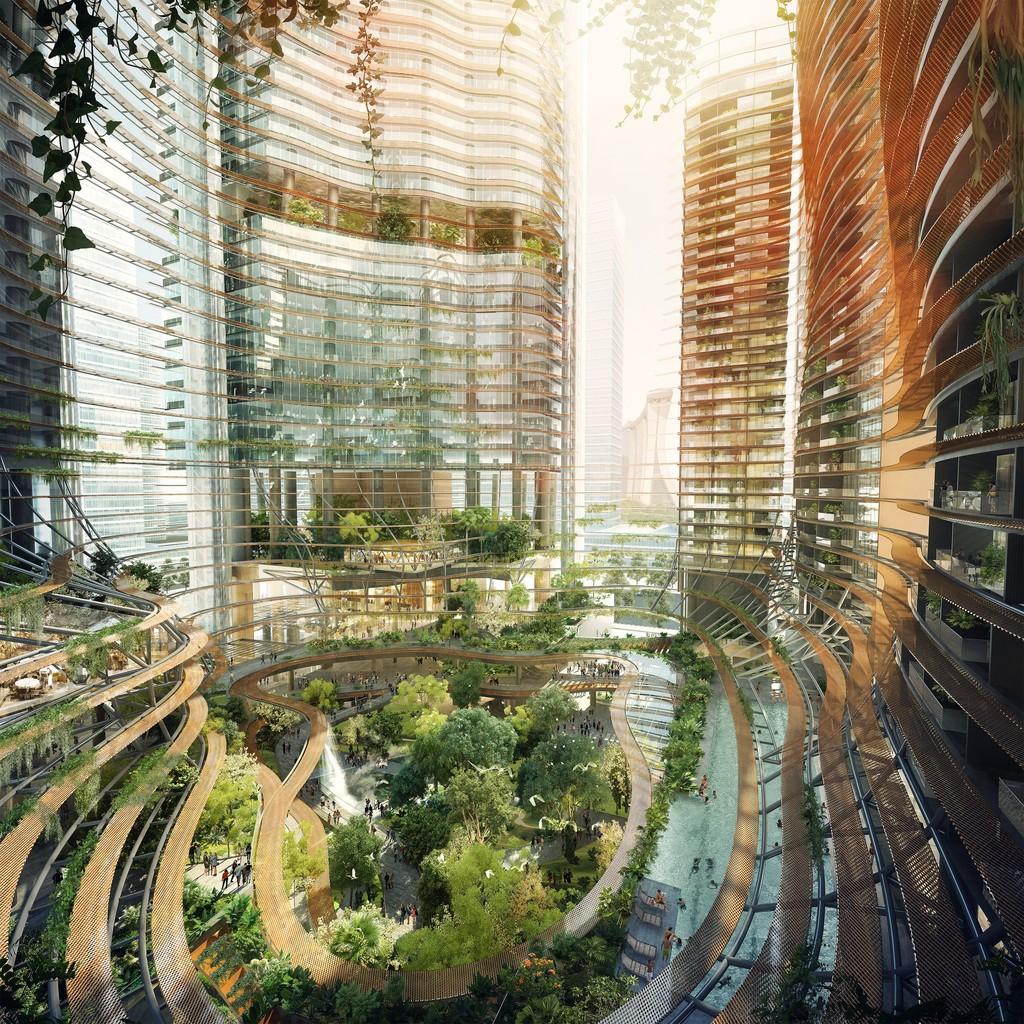 Green Heart – Marina One Singapore - Ingenhoven Architects - Singapore - rendering -11
