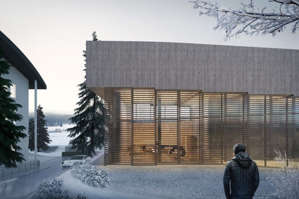 Ski Down the Roof in BIG's latest Designs for Hotel in Switzerland