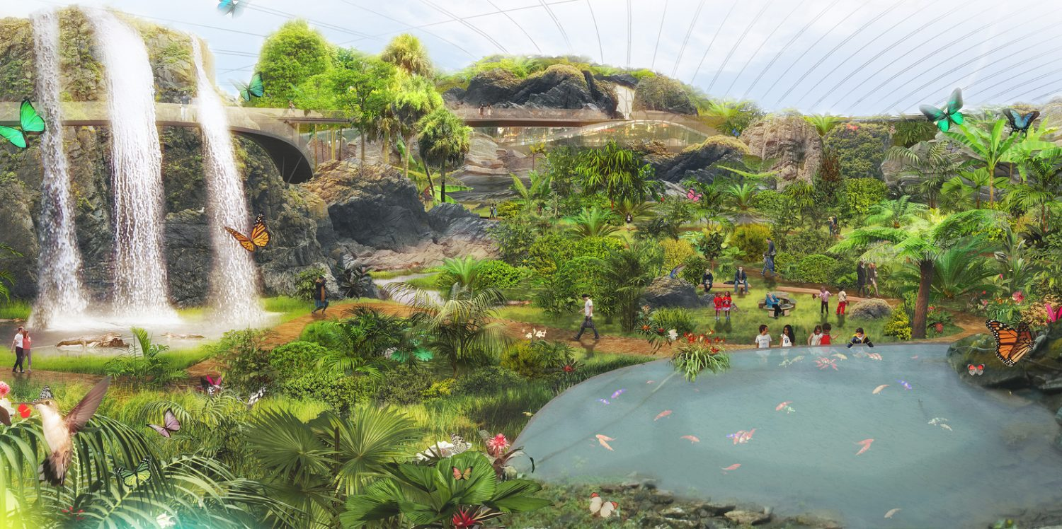 Coldefy & Associates-Design Worlds largest dome-tropical greenhouse- IGS magazine- 5