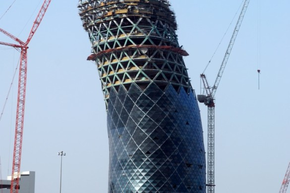 capital gate - RMJM - IGS Magazine - glass - facade - leaning tower - 12