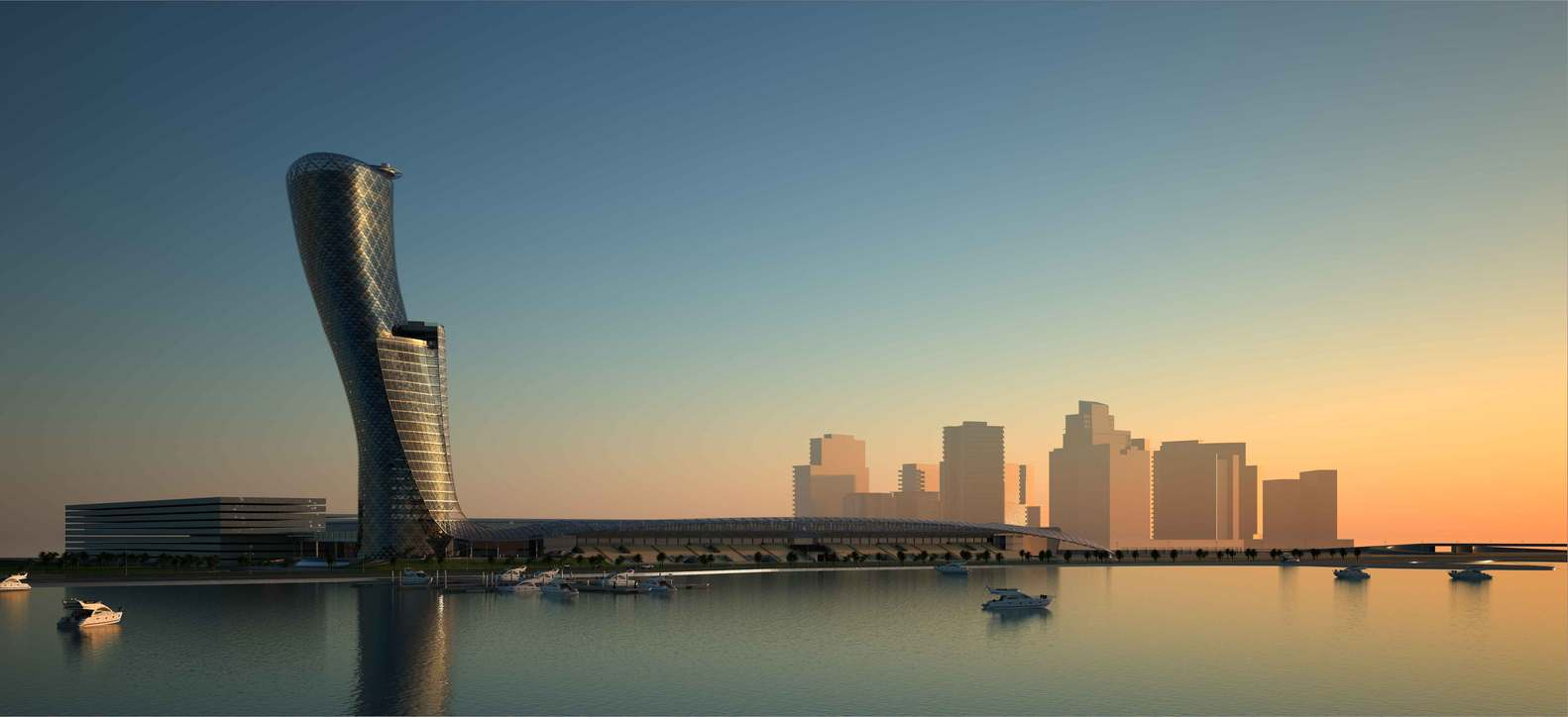 capital gate - RMJM - IGS Magazine - glass - facade - leaning tower - 2