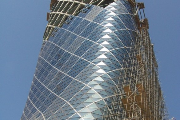 capital gate - RMJM - IGS Magazine - glass - facade - leaning tower - 8
