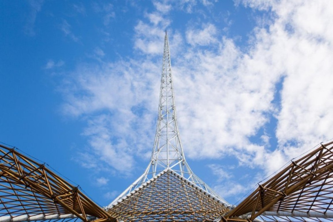 Arts Centre Melbourne's iconic Spire by day.