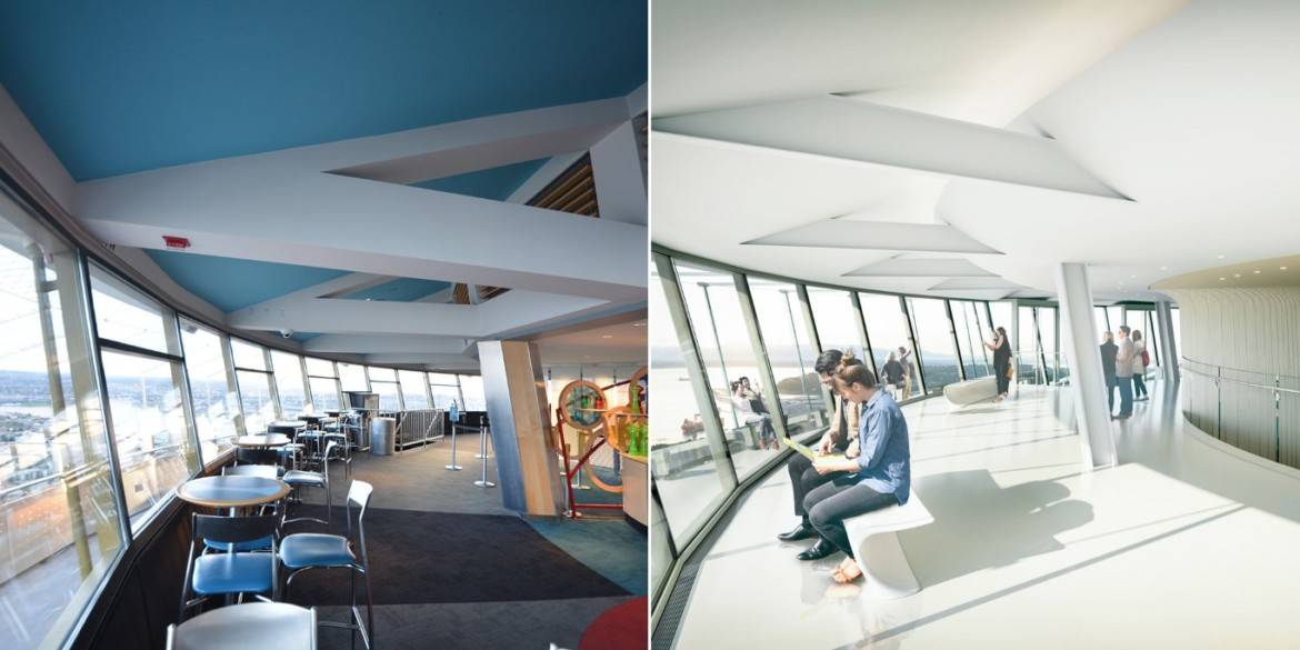 Before and After Upper Atmos (Inside). Photo credit Space Needle LLC and Olson Kundig