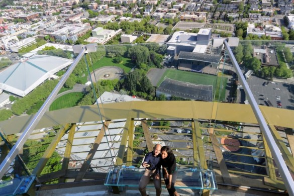 Skyriser on the Space Needle 520 observation level. Photo credit Space Needle LLC