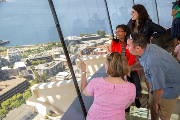 Views from The Loupe - the Space Needle revolving glass floor. Courtesy of John Lok and Space Needle LLC (2)